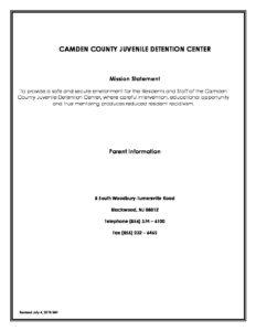 2018 Parent English Version | Camden County