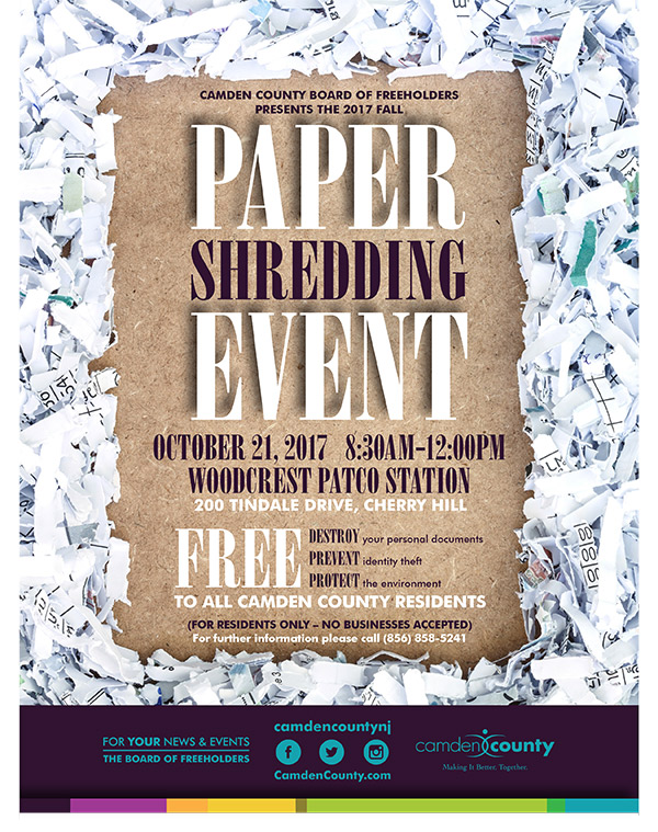 paper shredding event Trash & recycling events all county events suggest an event  free paper shredding & inert material drop-off earth products yard: 08/04/2018 8:00 am-4:30 pm.