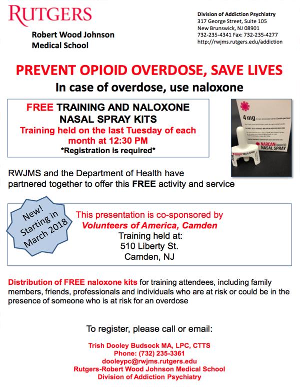 free training and naloxone nasal spray kits | camden county, nj