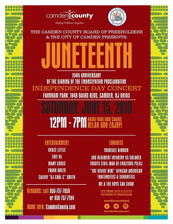 Juneteenth Independence Day Celebration Camden County Nj