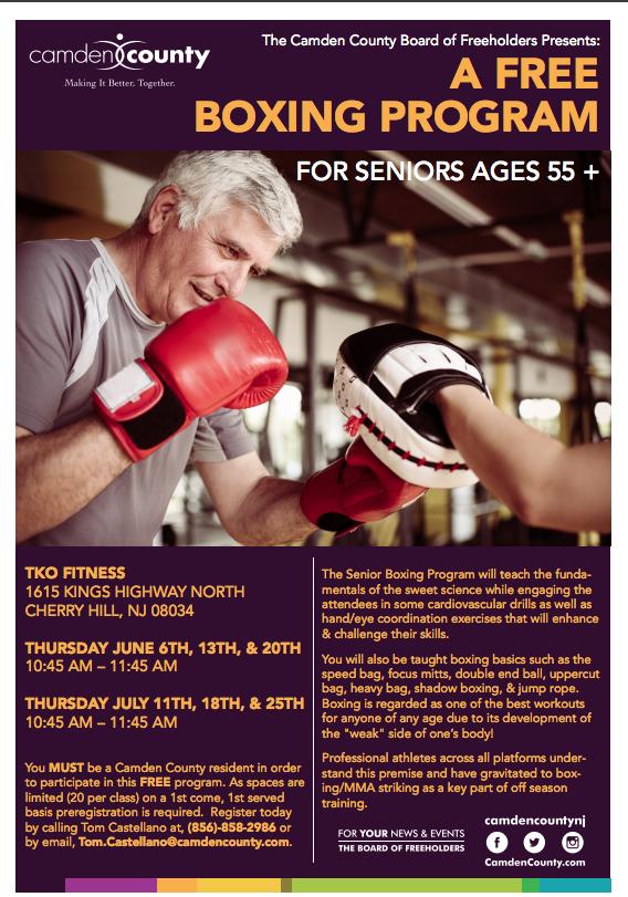 377c7b650b Boxing Program for Seniors | Camden County, NJ